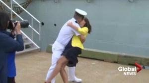 HMCS St. John's, Sea King return to Halifax port after overseas mission