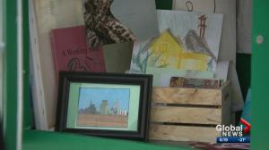 Edmonton woman creates Little Free Library spinoff for art