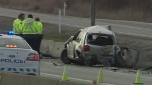 Dashcam wrong way driver crash
