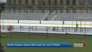 $5.6M outdoor Ottawa rink open for just 3 weeks