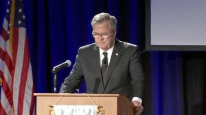 'I love her dearly': Jeb Bush chokes up talking about late mother Barbara