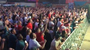 Fans erupt in cheers in UK town as England wins penalty shootout against Colombia