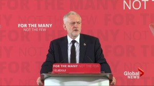 Britain's Labour leader says terrorism is linked to foreign wars