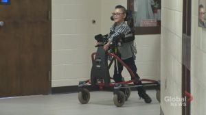 8-year-old Brampton student walks on his own for first time