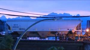 Train derailment in New Westminster causes traffic delays