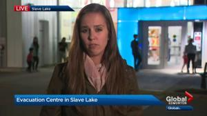 Wildfire evacuees begin arriving at Slave Lake reception centre