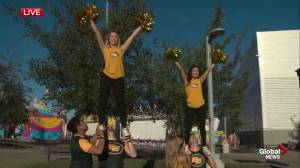 EMS, Edmonton Eskimos cheer team take part in Monday Morning Magic