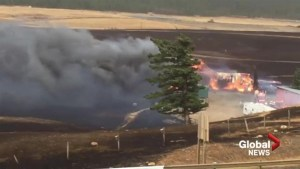 Wildfire leaves hundreds stranded overnight on Highway 3 in Coleman
