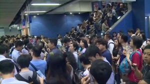 Hong Kong subway stations in chaos after Typhoon Mangkhut