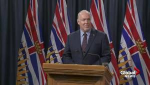 Horgan's full press conference following Trans Mountain pipeline deal announcement (16:35)