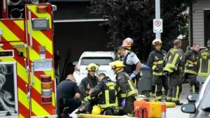 Surrey residents rushed to hospital after home catches fire