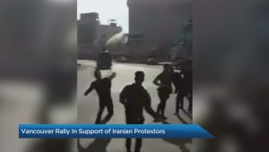 Iranian-Canadians rally in support of anti-government protesters in Iran
