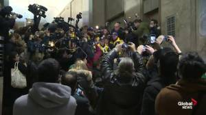Media chaos at Jian Ghomeshi's courthouse appearance