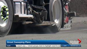 Sweeping Calgary's streets after a long winter