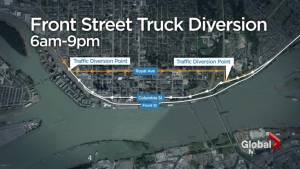 Day one of Front Street construction closures