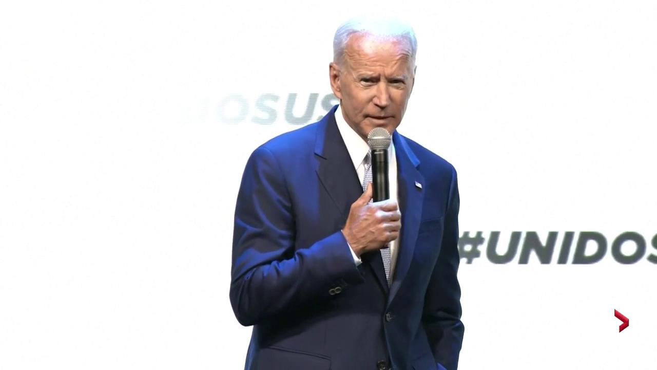 Trump has 'fanned the flames of white supremacy', says Joe Biden