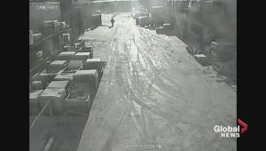 Surveillance video of west Edmonton hit and runs