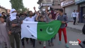 Protesters march through streets of Srinagar demanding freedom