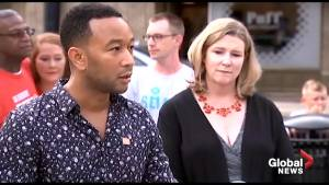 John Legend speaks about gun violence in Dayton, OH