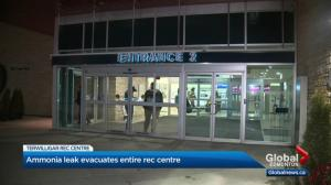 Edmonton rec centre evacuated amid ammonia gas leak