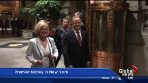 Alberta Premier Rachel Notley attends New York Climate Week conference