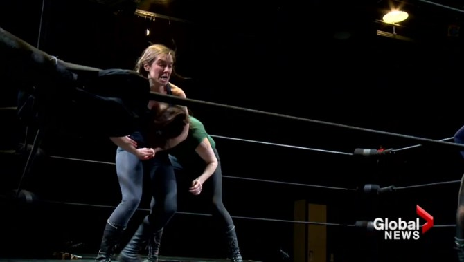 Female performers play 'hyper-masculine dudes' in Calgary show about famous wrestler Andre the Giant