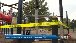 'It's disturbing': Community reacts to school playground set on fire overnight