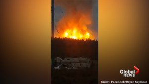 'It's raining down ash': Gas pipeline explodes north of Prince George, B.C.