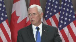 U.S. Vice President Mike Pence talks trade with Trudeau in Ottawa