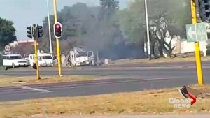 Dramatic South African cash van heist caught on camera