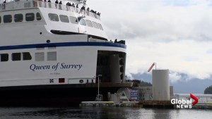 WATCH: BC Ferry hits dock and damages front of ship in Langdale