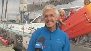 Family of five sailing around the globe