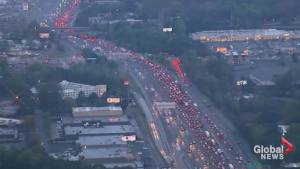 Freeway collapse causes massive traffic headaches in Atlanta