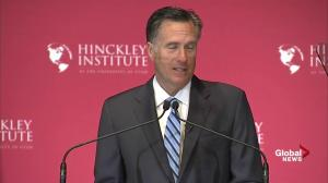 Mitt Romney says Donald Trump's economic proposals would be a disaster for America