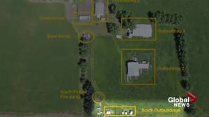 Douglas Garland murder trial: Court shown graphic photos from aerial photographer (01:31)
