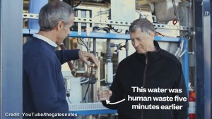 Bill Gates drinks water made from human waste