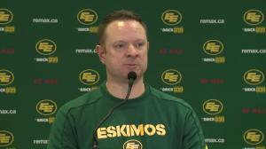 Edmonton Eskimos GM talks about moves made on Day 1 of CFL Free Agency