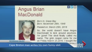 'I think I was a pretty nice guy': Cape Breton man writes his own blunt obit