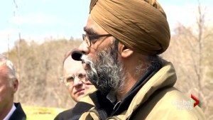 Defence minister says climate change disasters could mean Canadian troop hikes during visit to Saint John