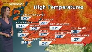 B.C. evening weather forecast: July 25