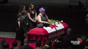 Final farewell held for officers killed in Fredericton