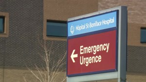 Health officials downplay row of ambulances outside Winnipeg hospital