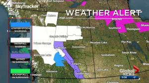 Weather warnings in place for parts of Alberta