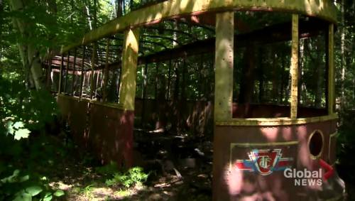 How did a TTC streetcar end up nestled in the woods in cottage country?