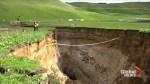 6-storey deep sinkhole opens up on New Zealand farm