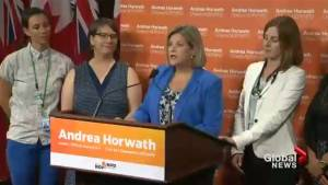 Horwath, health care workers demand Tories to stop repeal of sex-ed curriculum