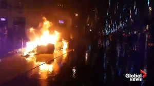 Barricades burn in central Bordeaux after 'yellow vest' protests