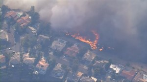 California wildfires threaten homes near Los Angeles