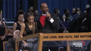 Aretha Franklin funeral bishop apologizes to Ariana Grande for how he touched her onstage
