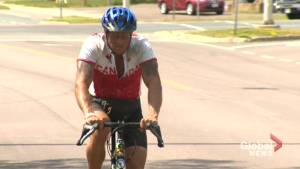 B.C. man arrives in Moncton on cross-country cycling trip to raise awareness for mental illness